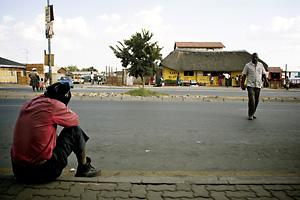 Une avenue de Soweto. Photo : Juliette Robert