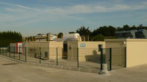 Unité de production de biométhane sur le site de Claye-Souilly. photo : Photothèque Veolia Environnement