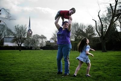 Delphine, aka Bulla Punk et ses enfants