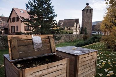 Un site de compostage collectif à Kaysersberg. © : Juliette Robert/Youpress