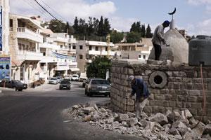 Le Qatar, allié du Hezbollah, a financé la reconstruction de Bint Jbeil. Photo : Juliette Robert/Youpress