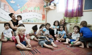 Au jardin d'enfant Hand in Hand d'Haïfa. © Juliette Robert / Youpress