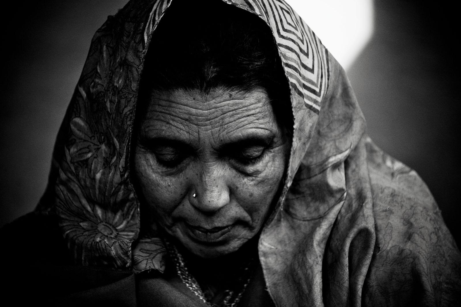 Khadija in her home in north Kashmir