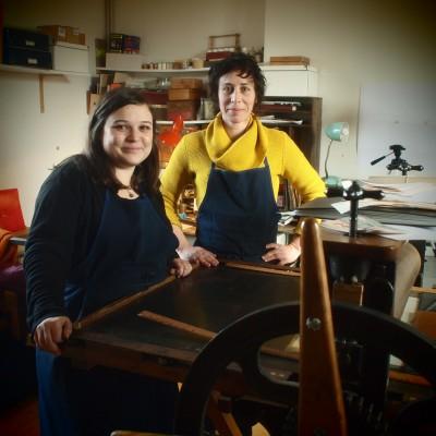Agathe Halais et Charlotte Piednoir, créatrices de Barbe à Papier ©Richard Volante
