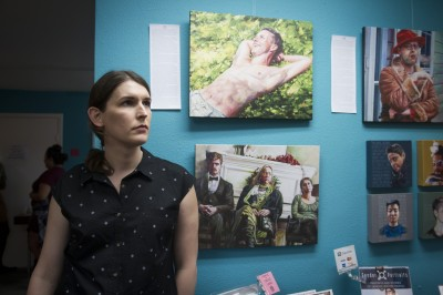 Exposition collective d'artistes gay au Q Austin, Austin, Texas. © Moland Fenkov/Haytham Pictures