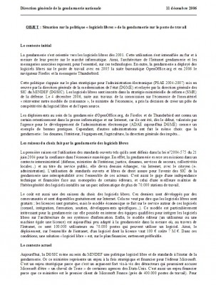 Document interne à la gendarmerie nationale, 2006.