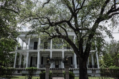 Une maison historique, La Buckner Mansion, sur Jackson avenue, qui a servi de decor pour la serie American Horror Story ©Juliette Robert/Youpress/Haytham