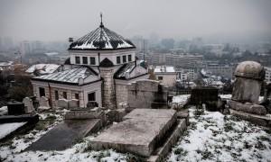 Vue sur Sarajevo depuis une ligne de front pendant le siège © Juliette Robert/Youpress